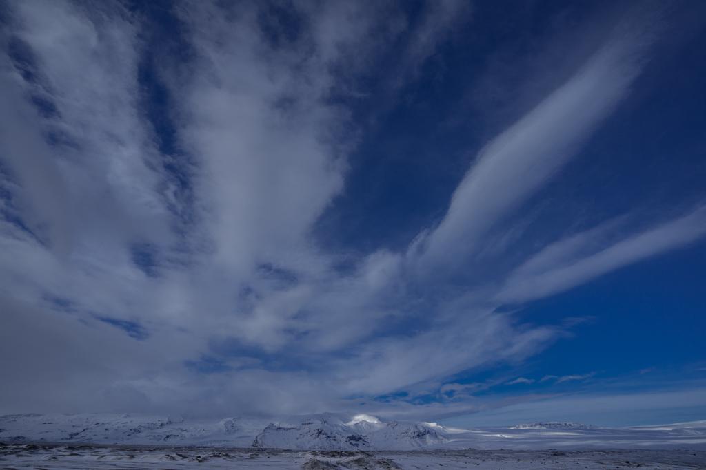 Cloud formations at Jökulsarlon