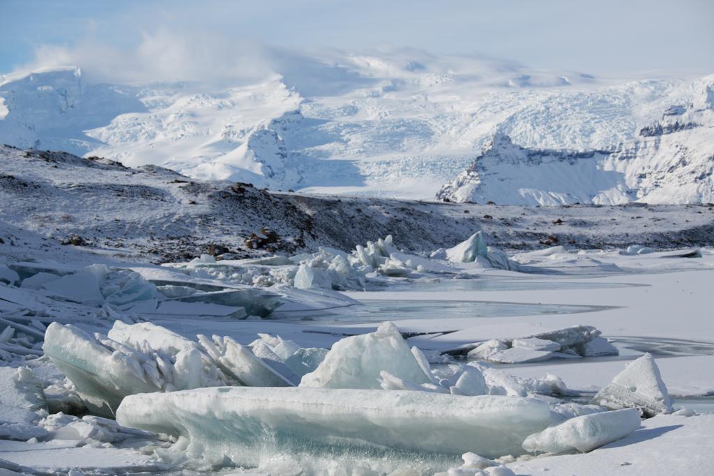 Mountains and Ice at Jökulsarlon
