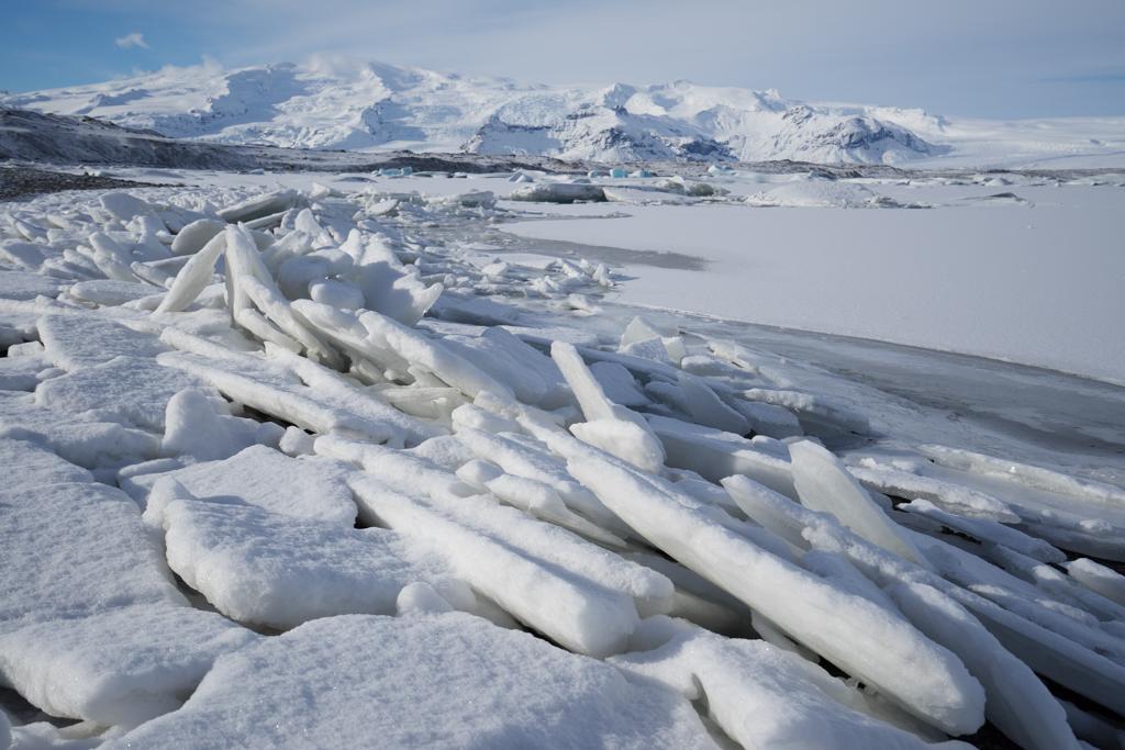 Ice on the edge of Jökulsarlon