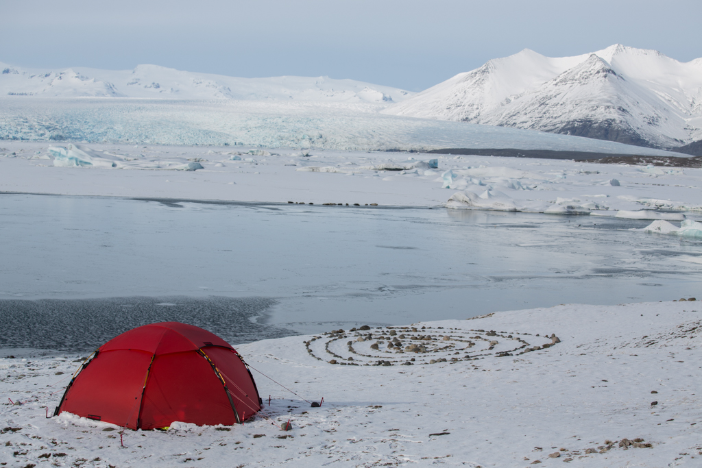 Red Tent at Jökulsarlon