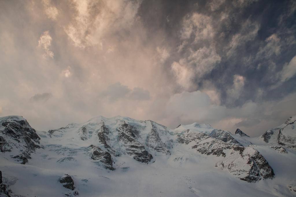Clouds over Piz Palu
