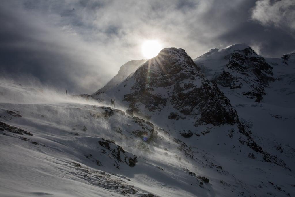 Sun and Clouds on Piz Palü