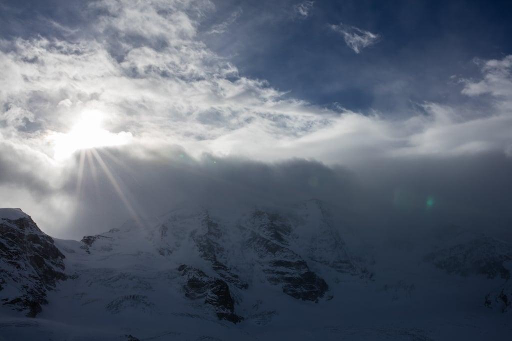 Piz Palü in Clouds