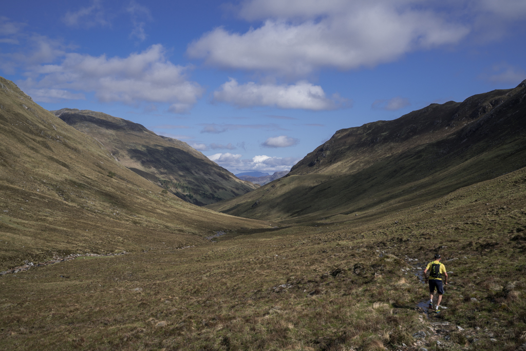 Day 3: Kinloch Hourn to Achnashellach (68km)