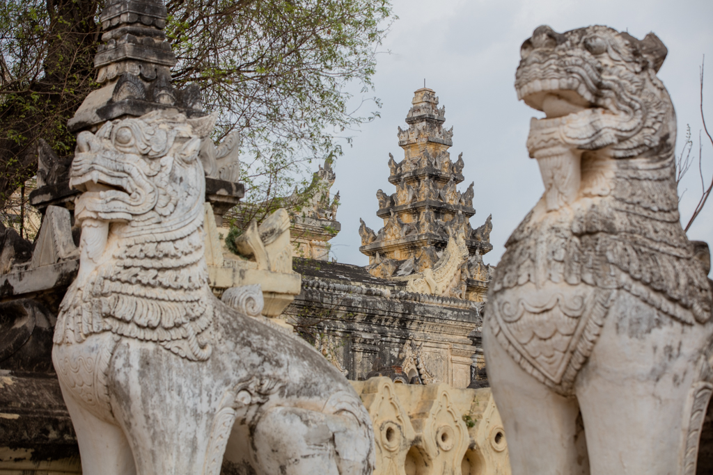 Lions of the palace in Inwa
