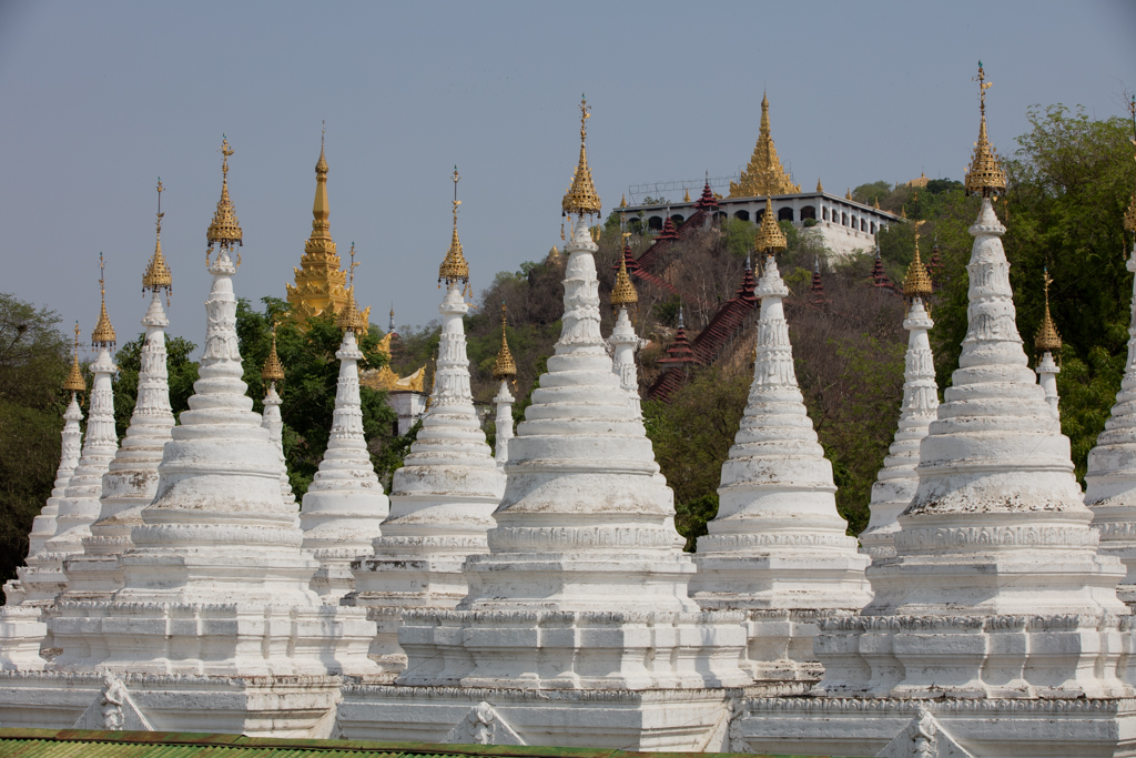 Hundreds of stupas in Mandalay
