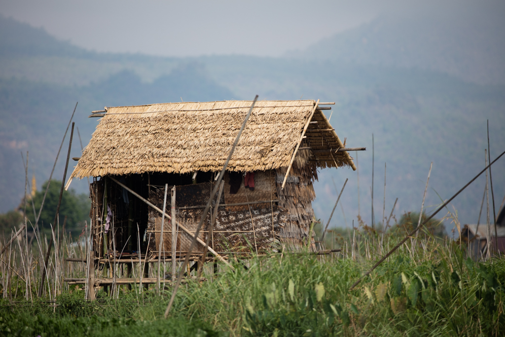 Typical stilt house at Inle Lake