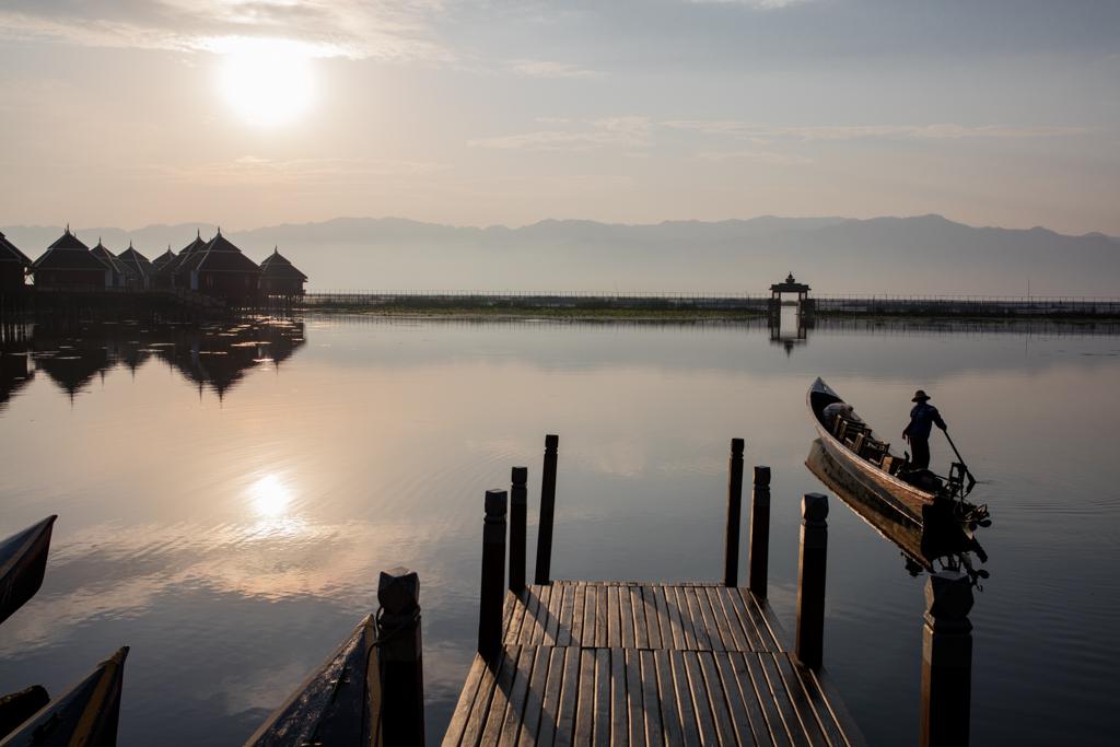 Sunrise at Inle Lake