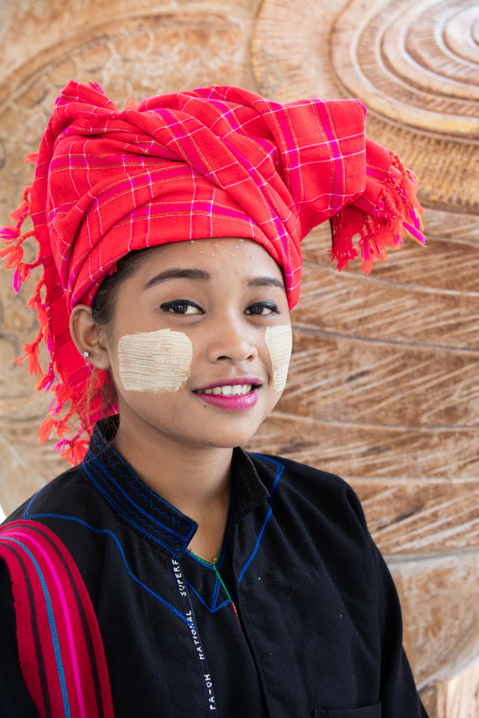 Woman with Thanaka creme