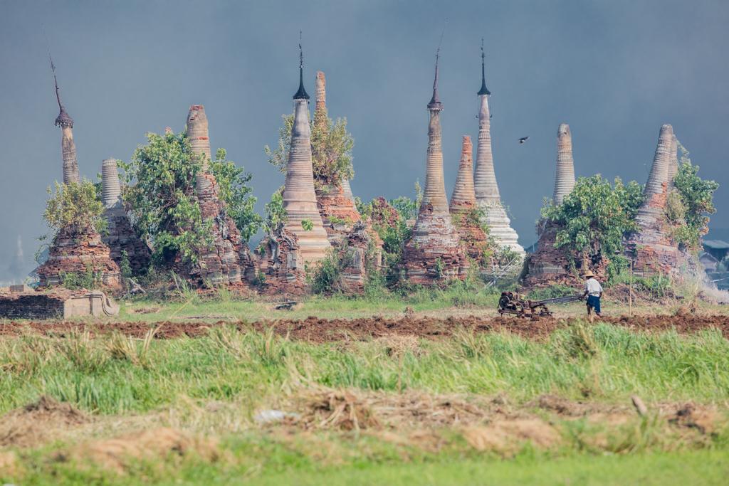 Ruins of pagodas in Sankar