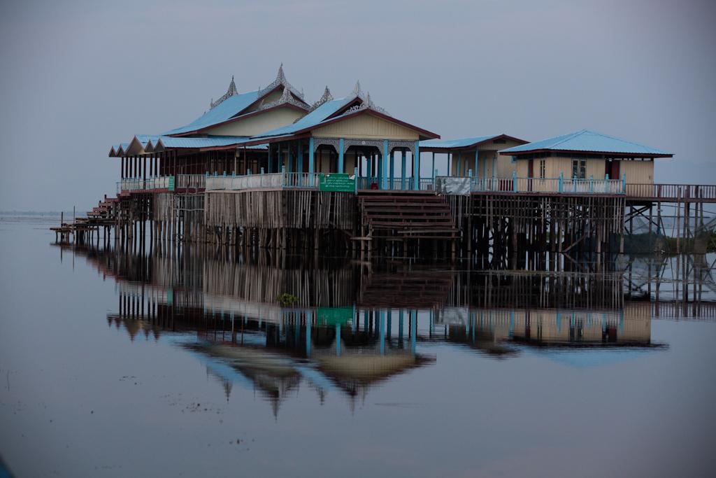 Inle Lake before sunrise