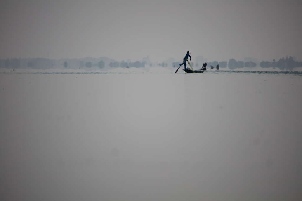 One leg rower in the distance