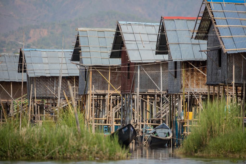 Stilt houses at Inle Lake
