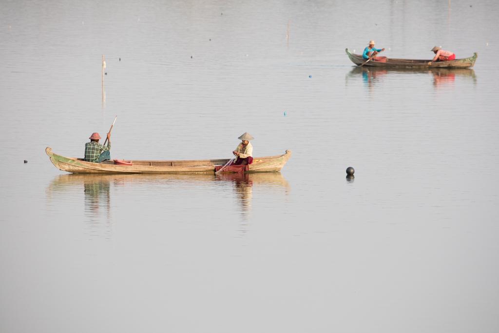 Boats at Amarapura lake