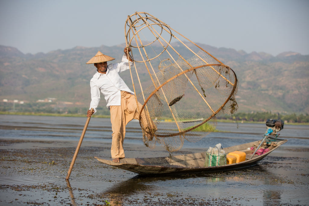 Fisherman with nice dress