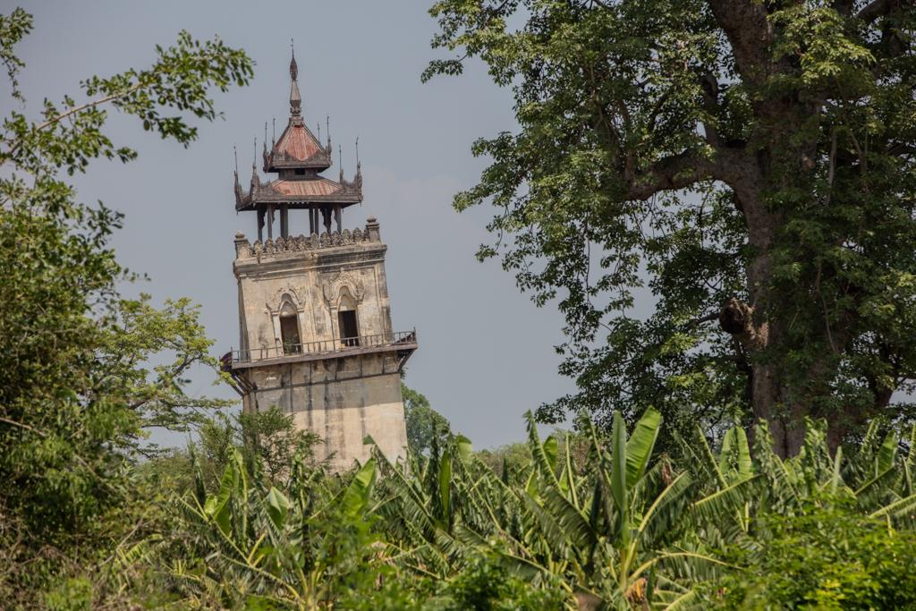 Skew watch tower in Inwa