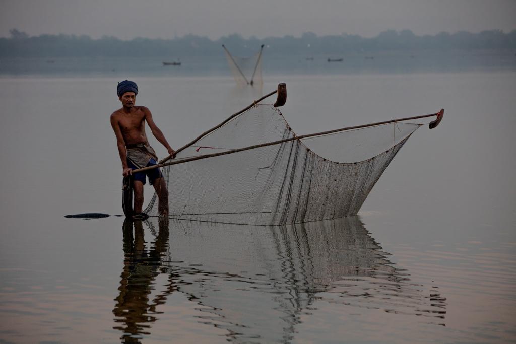 Fisherman in Amarapura