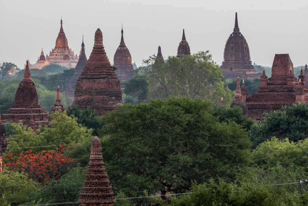 Group of temples before sunrise