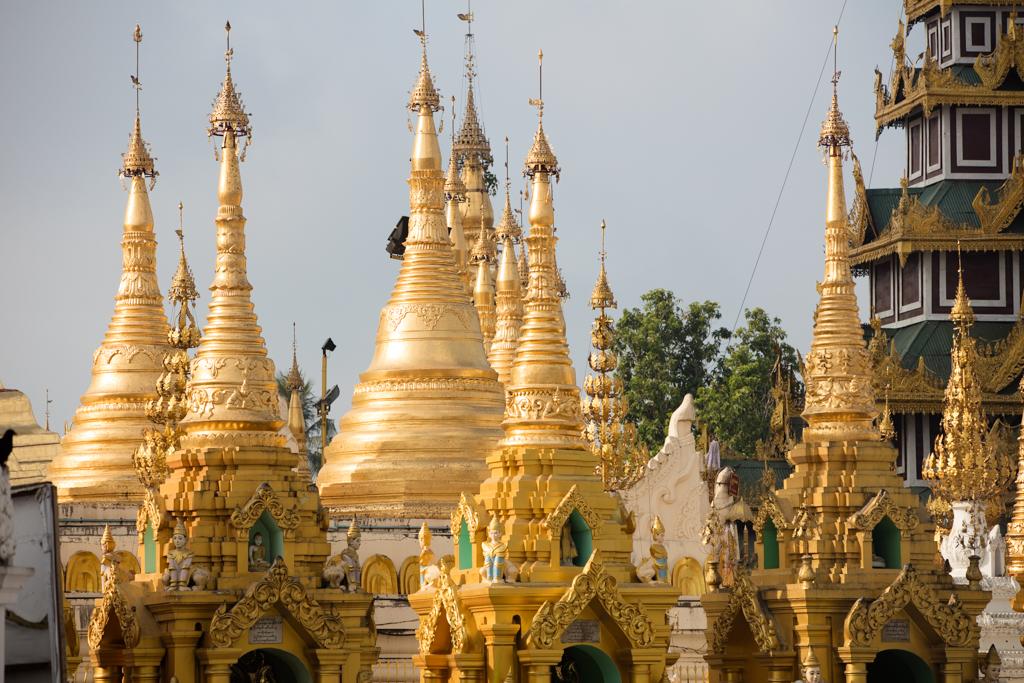 Pagodas at Shwedagon