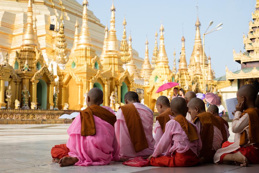 Nuns at Shwedagon Pagoda