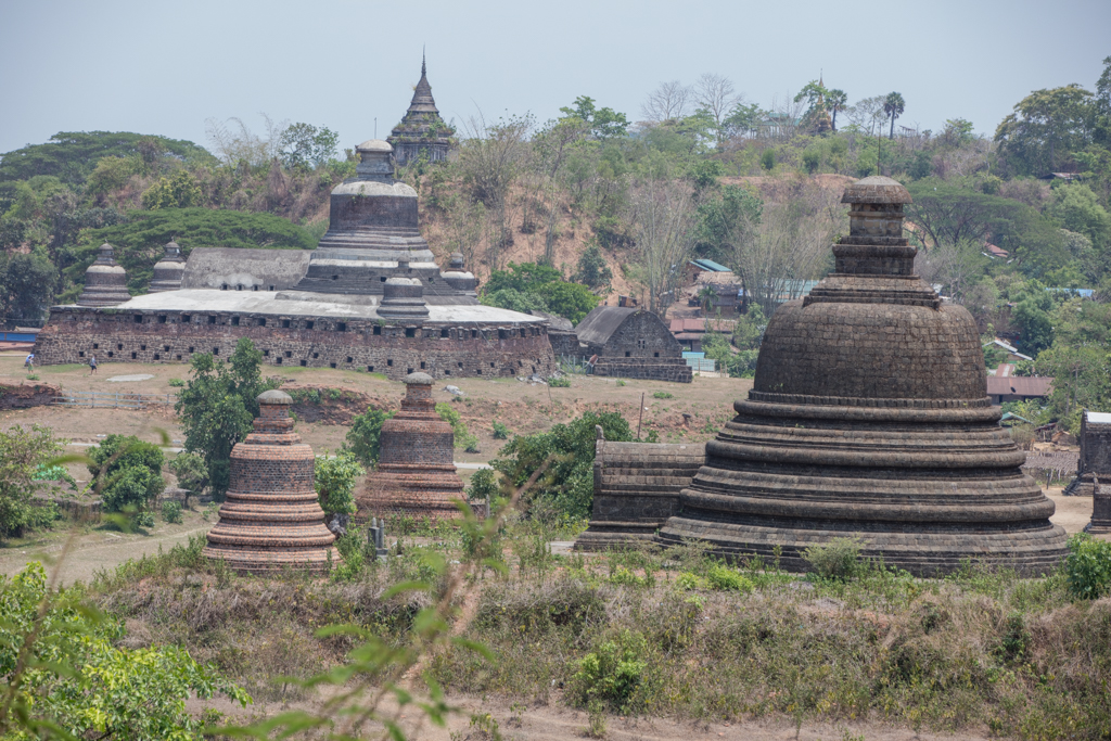 Temples of Mrauk U in the morning