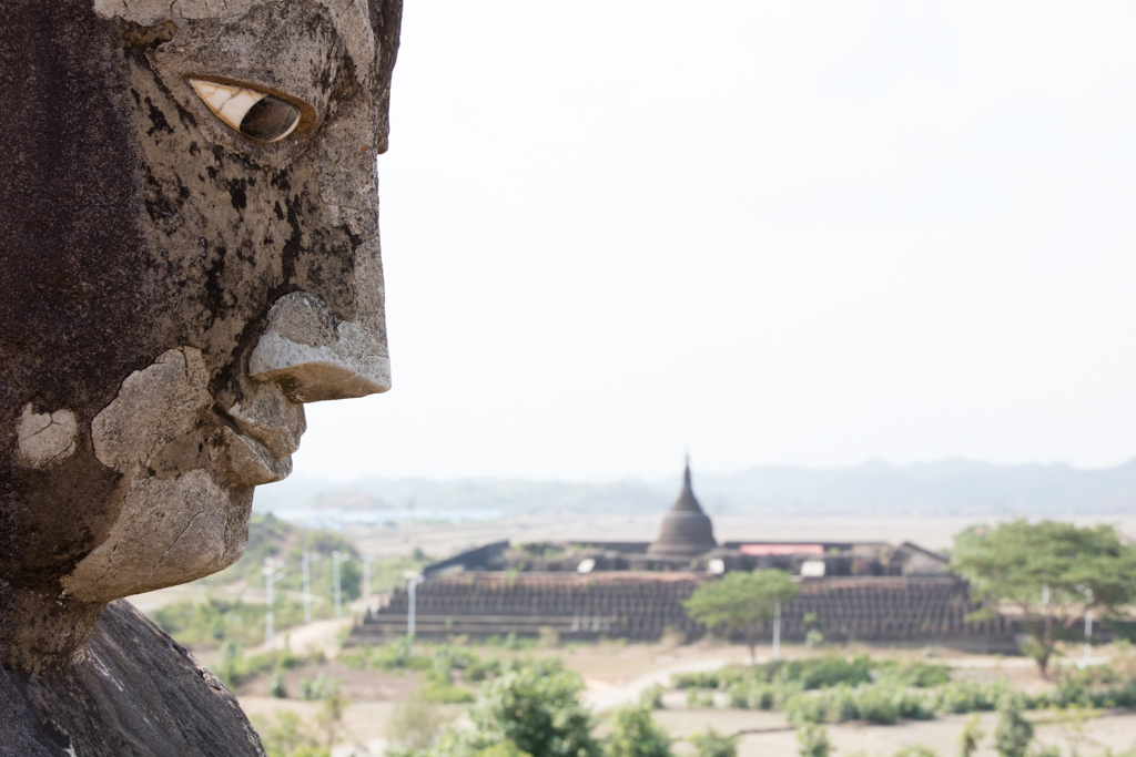 Buddha looking at biggest temple