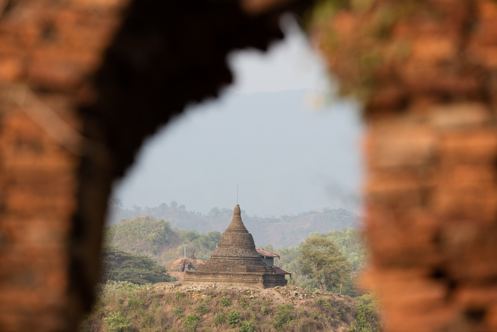 Framed temple in Mrauk U