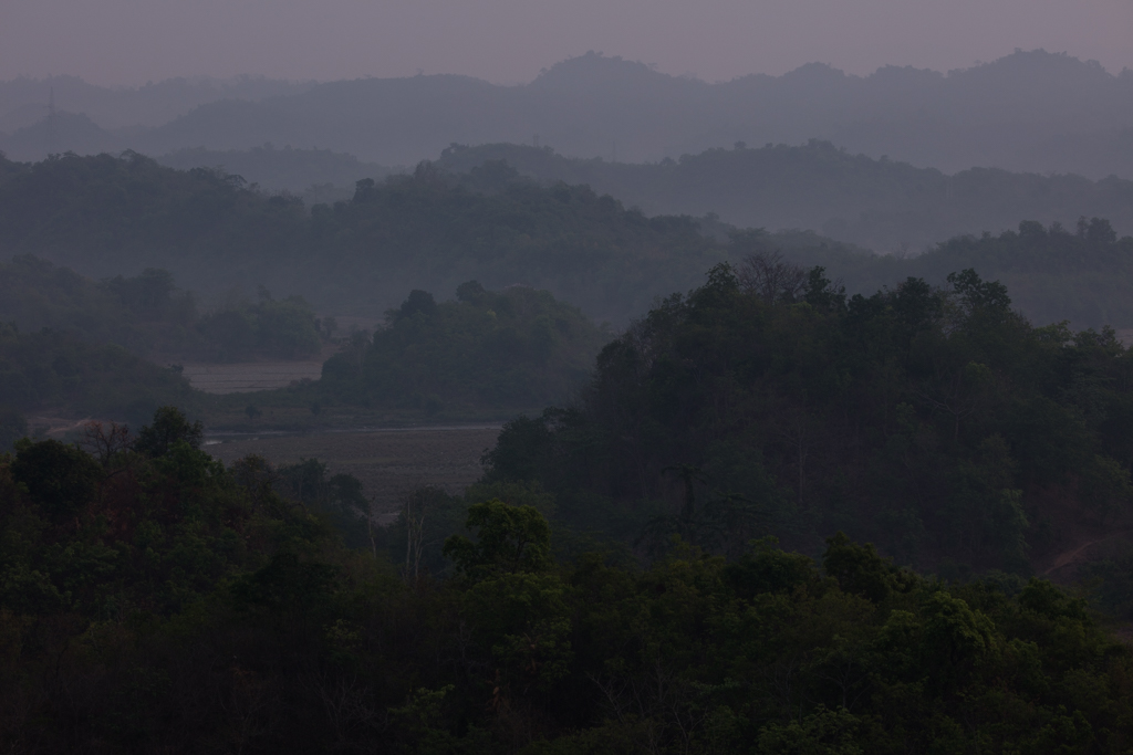 Layers of hills in the morning