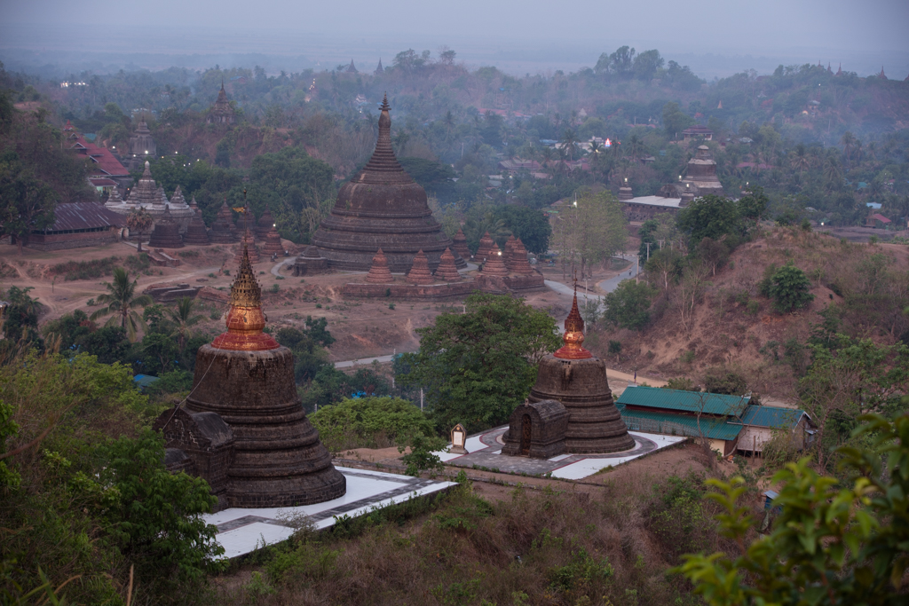 Temples seen from viewpoint No 1