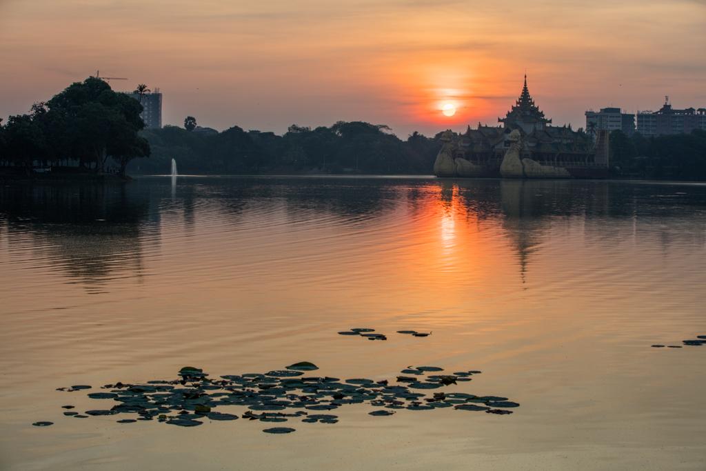 Kandawgyi Park in Yangon
