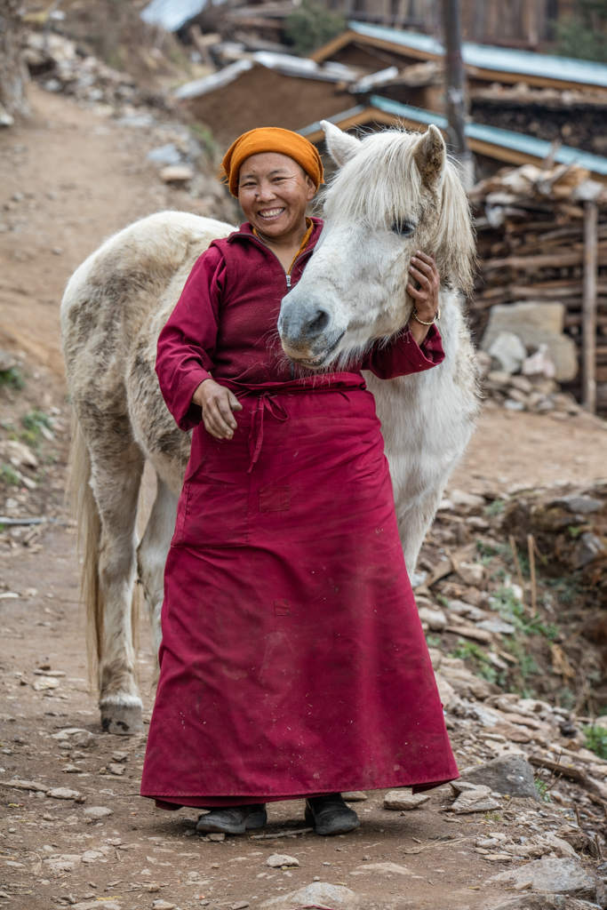 Woman with her horse