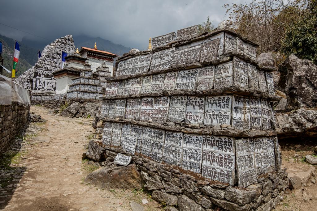 Prayer walls close to Lukla