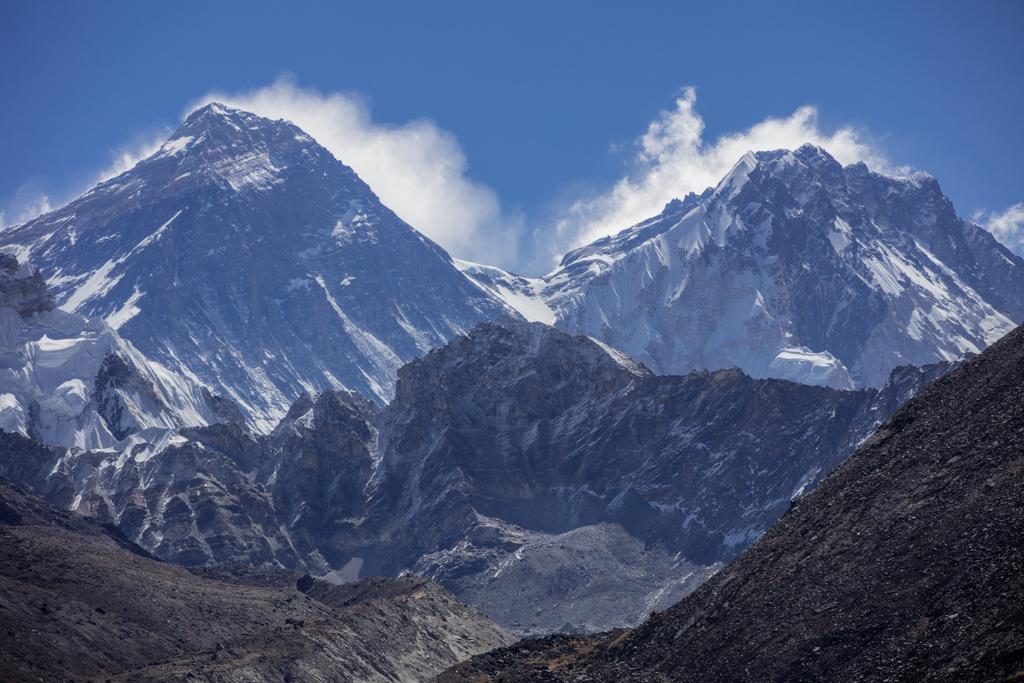 Mount Everest (8848m) and Lhotse (8516m)