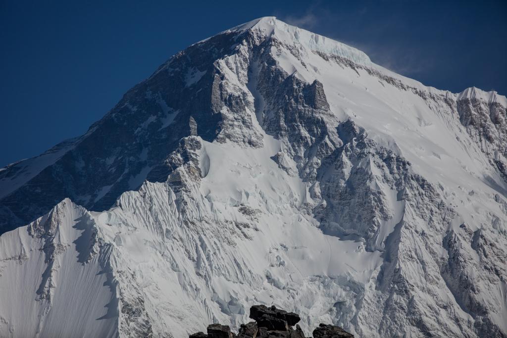 The summit of Cho Oyu (8205m)