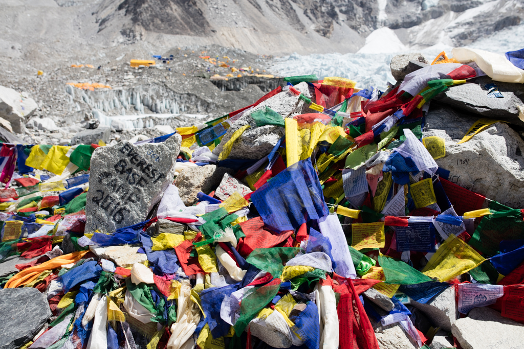 The entry to Everest Base Camp in 2016
