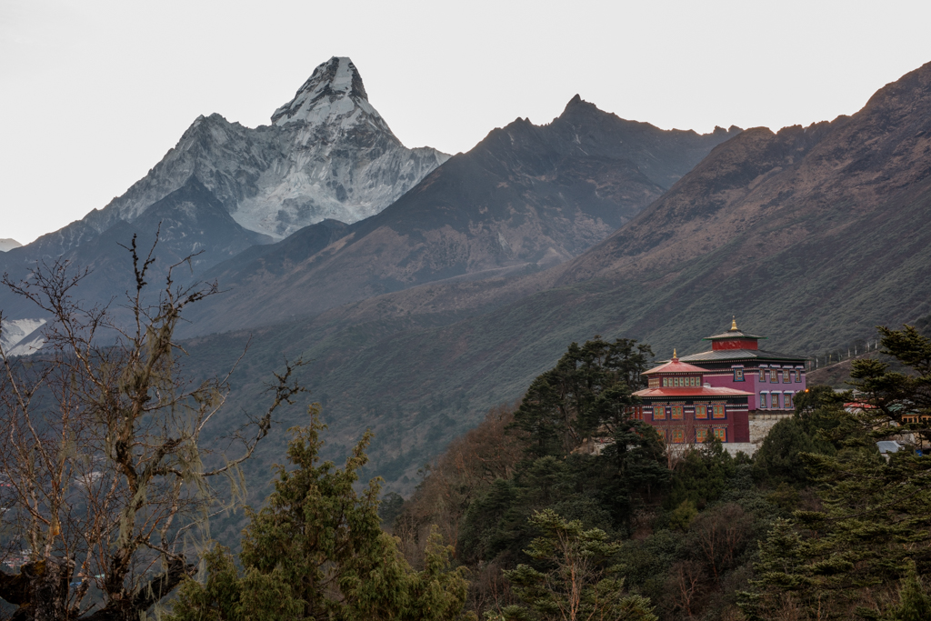 Early morning at Tengboche monastery