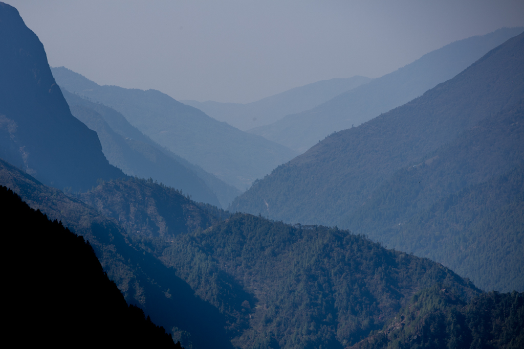 Route from Khumjung to Namche