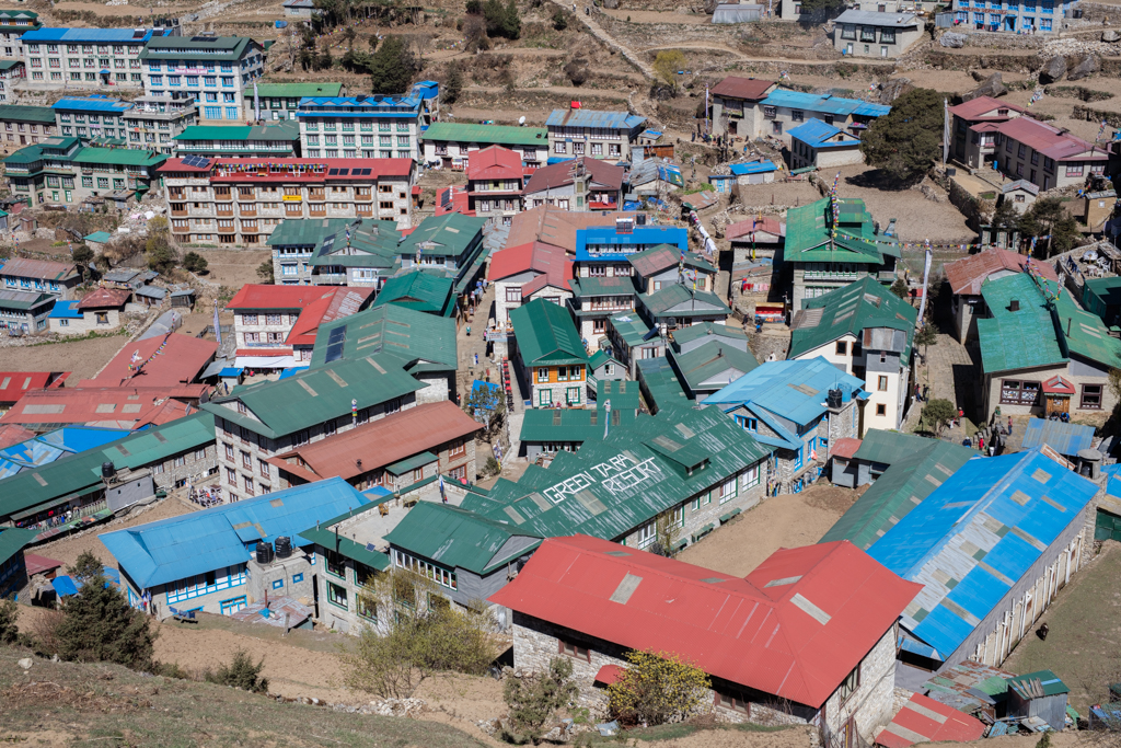Namche, village of the Sherpas
