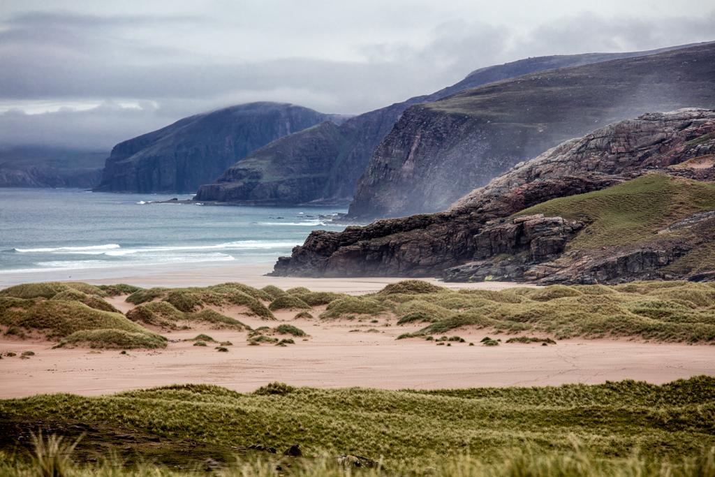Beautiful beach in Scotland