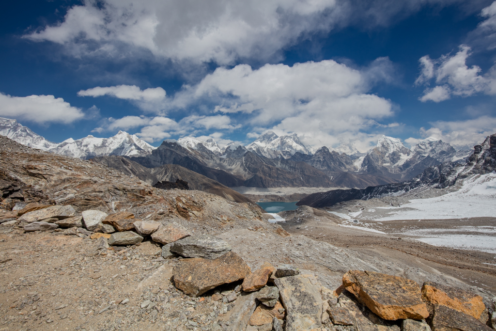 Everest with clouds