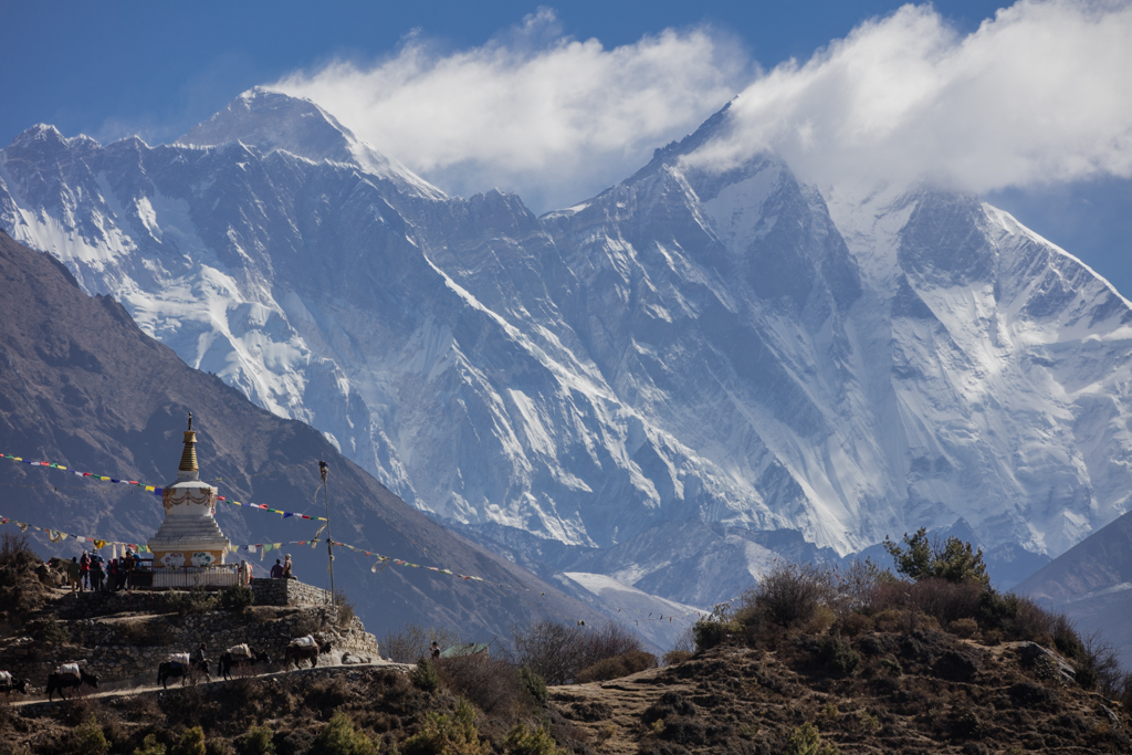 Everest seen from viewpoint close to Namche