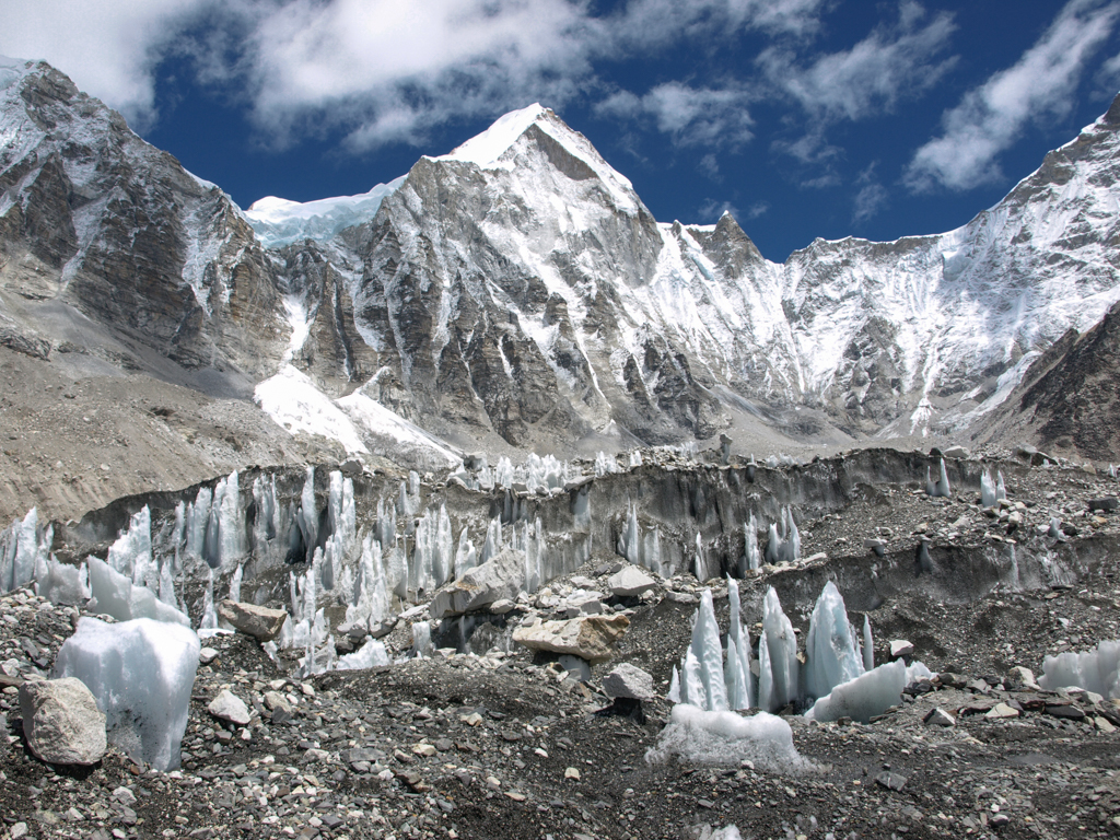 Ice formations at Everest Base Camp
