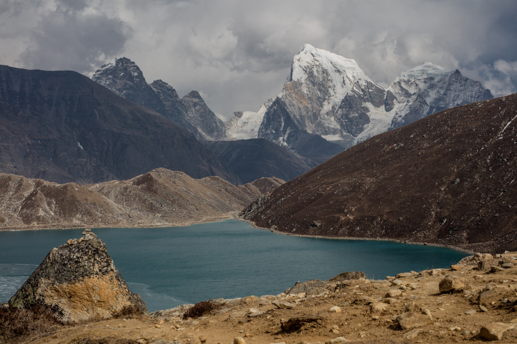 Gokyo Lake with dramatic clouds
