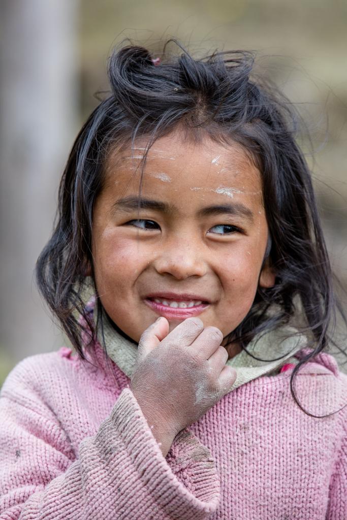 Little nepalese child