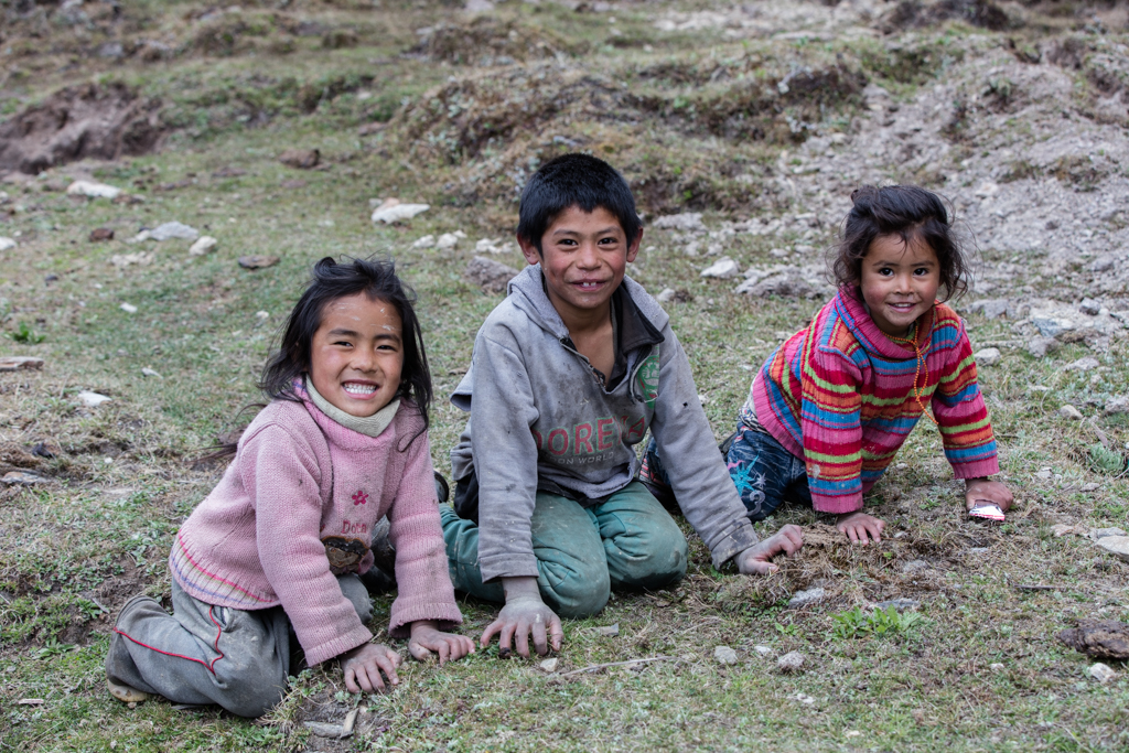 Playing childs in Nepal