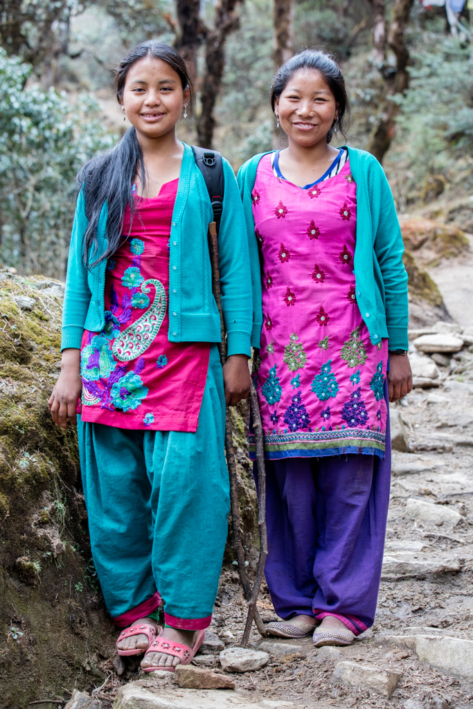 Colorful Nepalese women
