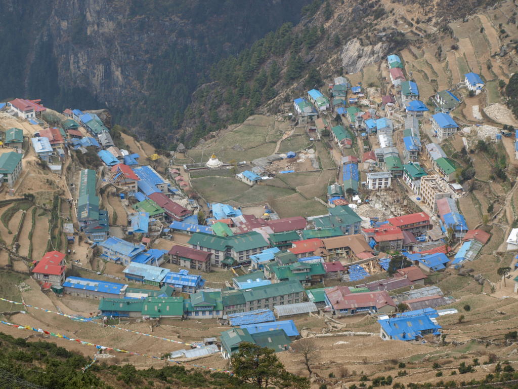Namche Bazar from above