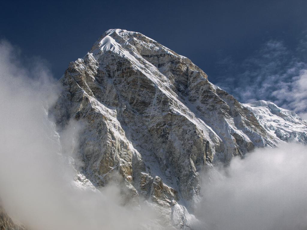Pumo Ri (7165m) embraced with clouds
