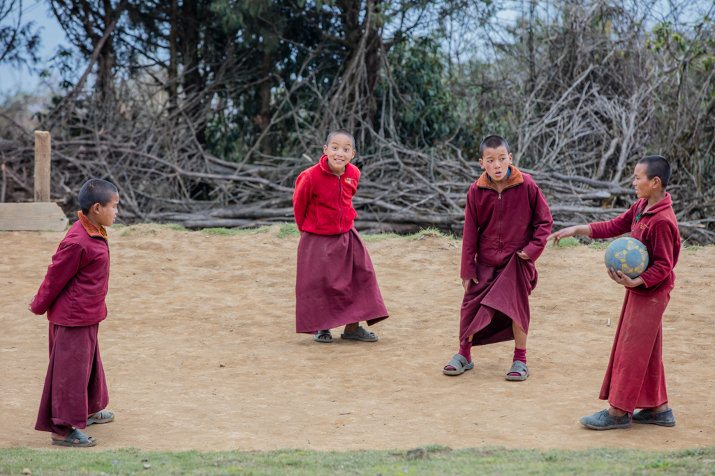 Monks playing football