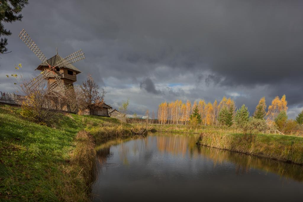 The windmill in Heliopark resort